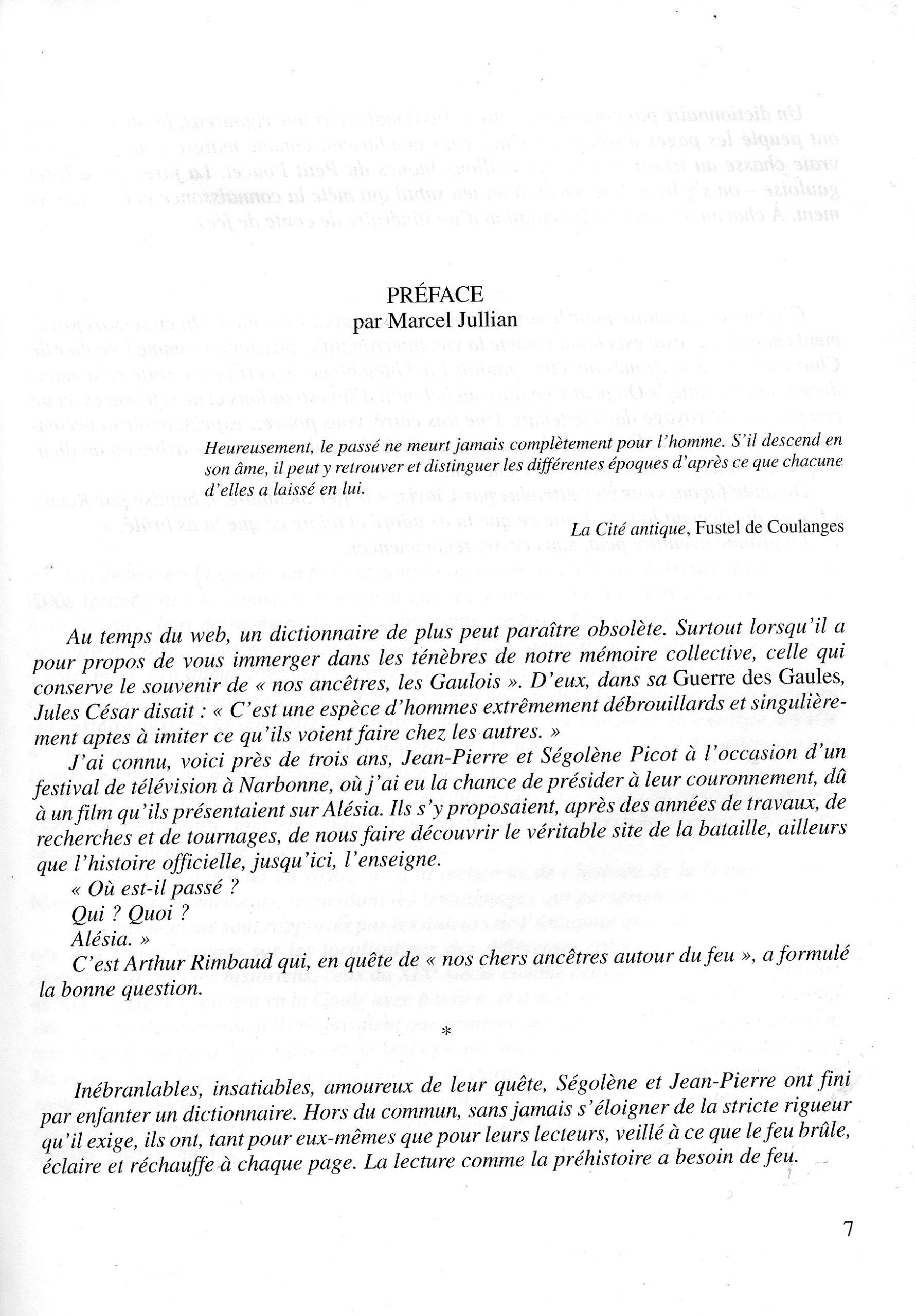 Preface de Marcel Julian